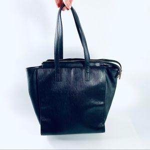 French Connection Black Vinyl Shoulder Bag